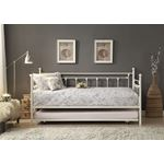 Lorena White Metal Daybed with Trundle 4965W-NT by