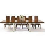 Galway Double Pedestal Walnut Lacquer Dining Table by Sharelle in set