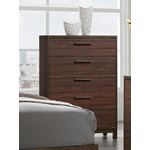 Edmonton Rustic Tobacco 5 Drawer Chest 204355 By Coaster