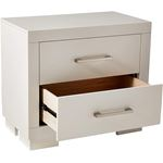 Jessica White 2 Drawer Nightstand 202992-3