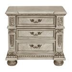 Catalonia Traditional Platinum Gold 3 Drawer Nightstand 1824PG-4 By Homelegance