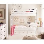 Chelsea White Solid Wood Twin / Twin Bunk Bed