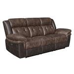 Saybrook Chocolate Tufted Cushion Power Reclining Sofa 609141P By Coaster