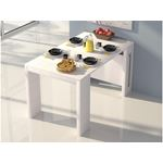 Erika Extendable White Console/Dining Table - 3