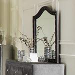 Deanna Grey Velvet Button Tufted Mirror 205104-3