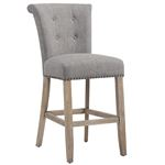 """Selma 26"""" Counter Stool Grey and Vintage Oak 203-221 by Inspire"""