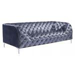 Providence Grey Velvet Tufted Sofa 900280 by zuo