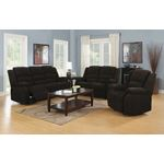 Gordon Chocolate Upholstered Glider Recliner 601-3