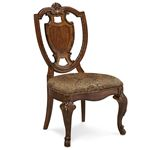 A.R.T. Furniture Old World Shield Back Side Chair with Fabric Seat
