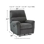 7591006 McTeer Recliner Charcoal Dimensions