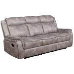 Lawrence Taupe Performance Fabric Reclining Sofa 603501 By Coaster