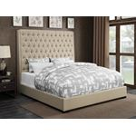Camille Cream Tufted Upholstered Queen Bed