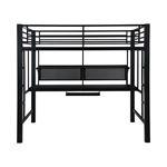 Coaster Avalon Full Workstation Loft Bed Black 460023
