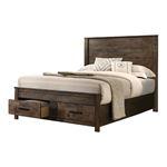 Woodmont Rustic Golden Brown King Storage Bed 222631KE By Coaster