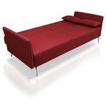 Davenport - Modern Red Fabric Single Sofa- 3