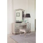 Bling Game Arched Top Vanity Mirror Metallic Platinum 204188 By Coaster