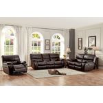 Pecos Brown Leather Reclining Living Room Collecti