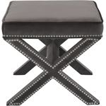 Nixon Grey Velvet Upholstered Ottoman/Bench - 3