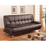 Pierre Brown Tufted Sofa Bed 300148 in room