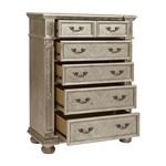 Catalonia Traditional Platinum Gold 5 Drawer Che-3