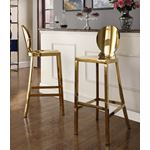 Maddox Gold Stainless Steel Bar Stool