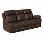 Myleene Chestnut Recliner Sofa with Drop Down Table 603021 By Coaster