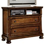 Cumberland Brown 2 Drawer Media TV Chest 2159-11 by Homelegance