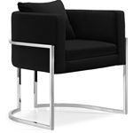 Pippa Black Velvet Upholstered Accent Chair