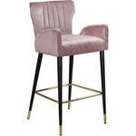 Luxe Pink Velvet Bar/Counter Stool -3
