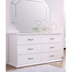 Glam White 6 Drawer Dresser
