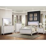 Alonza White Finish Bedroom Collection with LED 18