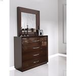Carmen Walnut 4 Drawer Single Dresser by Franco Sp