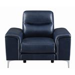 Largo Ink Blue Leather Power Reclining Chair 603-3