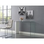 Buono High Gloss White Lacquer /Clear Glass Consol