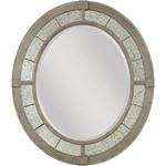 The Savona Collection Rococo Oval Mirror by Americ