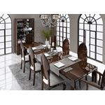 Carmen Walnut Lacquer Modern Dining Table by Franco Spain open