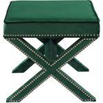 Nixon Green Velvet Upholstered Ottoman/Bench - 3