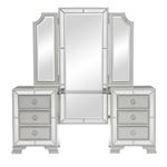 The Avondale Collection Silver Vanity Dresser Fron
