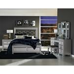 The Bevelle Collection Tufted Queen Bed in room