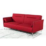 Davenport red Sofa Angeled