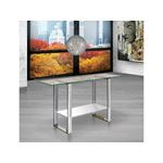 Clarity High Gloss White Lacquer Console Table - 3