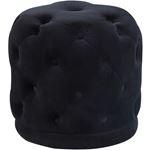 Harper Black Velvet Upholstered Tufted Ottoman/Sto