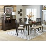 Makah Brown Upholstered Dining Bench 5496-13 in Set