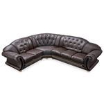Apolo Brown Leather Sectional top