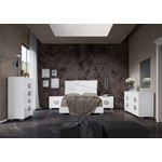 Modern White Dafne Bedroom Collection by Status It