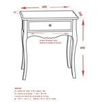 Marcela Accent Table  501-970GY - dimensions