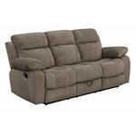 Myleene Mocha Recliner Sofa with Drop Down Table 603031 By Coaster