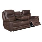 Hemer Chocolate Power Recliner Sofa with Power H-3