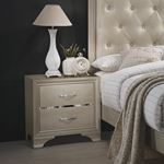 Beaumont Champagne 2 Drawer Nightstand 205292-3