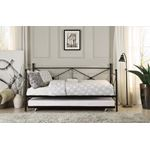 Jones Black Metal Daybed with Trundle 4964BK-NT by